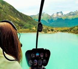 Ushuaia - Sobrevoo de Helicóptero - Laguna Esmeralda